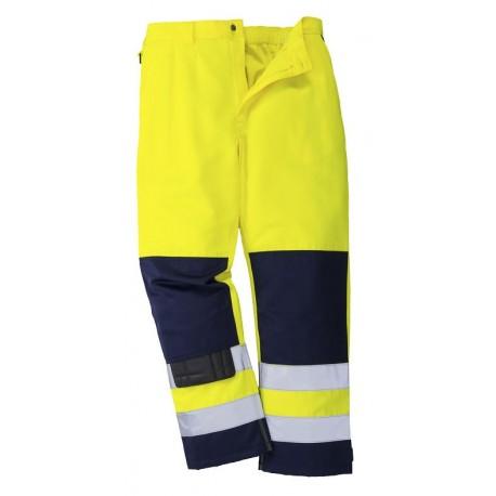 Pantalon Haute-Visibilité polycoton bicolore contraste