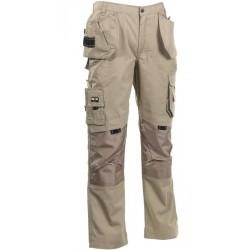 Pantalon de travail multipoches taille réglable
