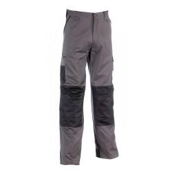 Pantalon déperlant multi-poches et renforts