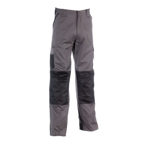 Pantalon de travail gris et noir