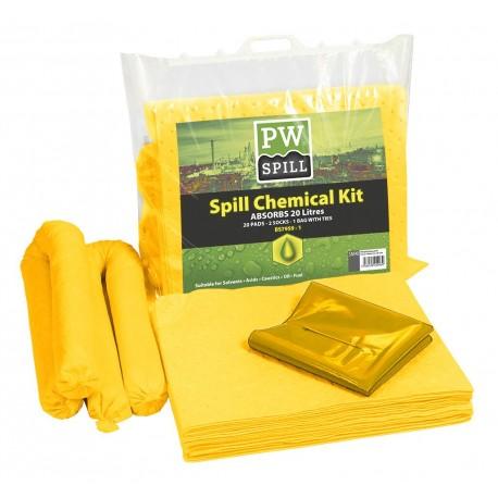 Kit anti pollution produits chimiques 20 litres