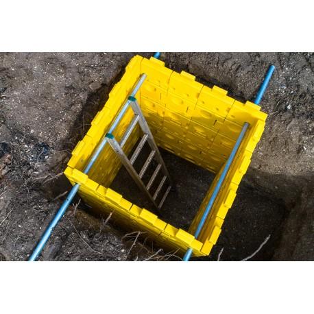 Blindage de fouilles ou de tranchées léger