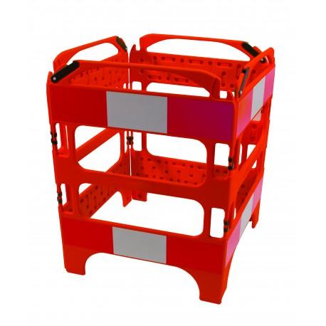 Barrières de chantier rigides pliables 4 pans