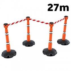 Kit signalisation barrière Skipper 4 poteaux de signalisation + 3 enrouleurs + 1 support de réception