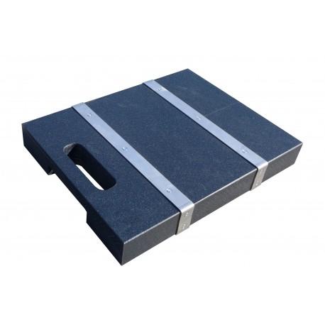 Plaque de calage carrée conductrice