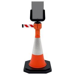 Support pancarte pour signalisation temporaire