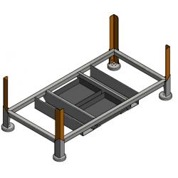 Box de rangement en acier pour stockage plaques