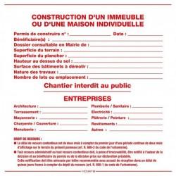 Panneau permis de démolir 1200 x 800 personnalisable