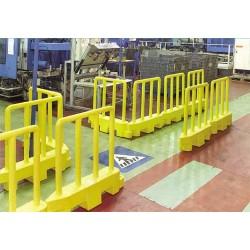 Barrière entrepôt lestable semi-permanente
