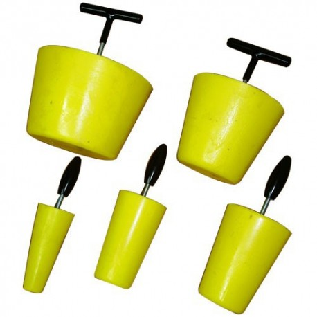 Obturateur conique réutilisable en polyuréthane