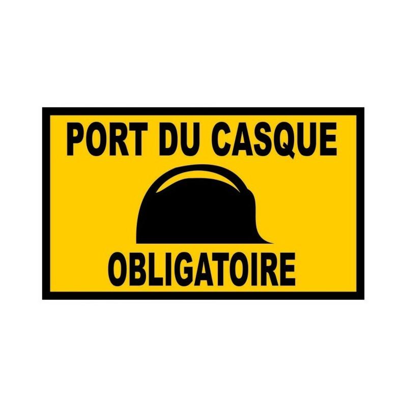 25 panneaux port du casque obligatoire equipement chantier - Port du casque obligatoire ...