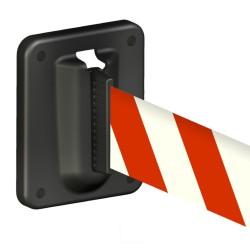 Support magnétique pour extrémité d'enrouleur de signalisation