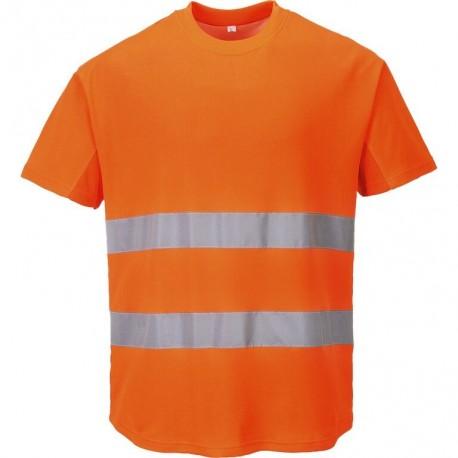 T-shirt aéré haute visibilité coloris jaune