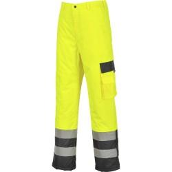 Pantalon Haute-Visibilité doublé bicolore contraste bas zippé - S686 - Portwest