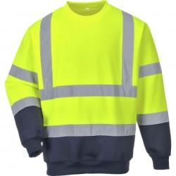 Sweatshirt Haute-Visibilité bicolore contraste - B306 - Portwest