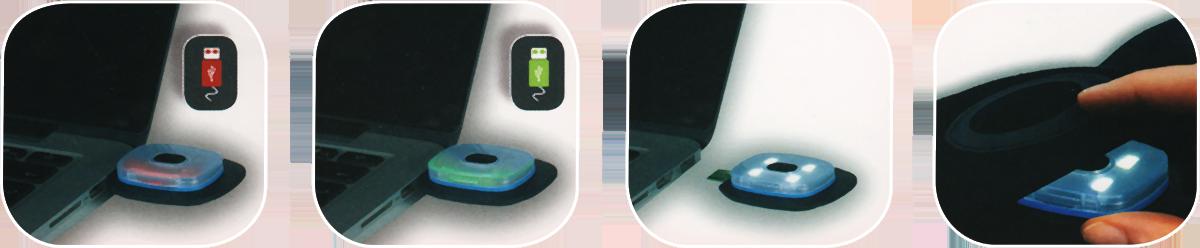 Bonnet à lampe frontale LED rechargeable en USB