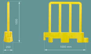 Barrieres en polyéthylène Btd Systems